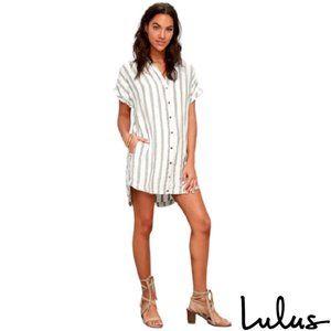Lulu's Striped Shirt Dress